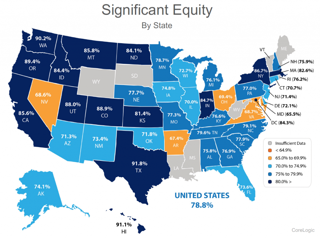 real estate bubble equity by state